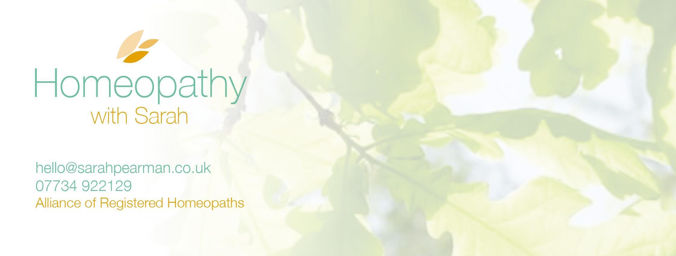 Homeopathy with Sarah